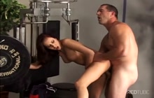 Redhead anal beauty takes cock