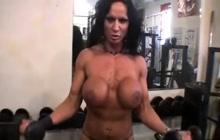 Rhonda Lee Quaresma naked in gym
