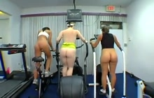 Gym girls and one lucky guy