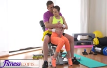 Sexy GF seduces her fitness coach