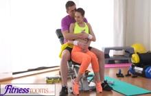 Sexy GF seduces her fitness coach