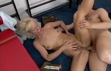 Slim mature bitch fucked by a younger guy